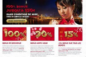 Bonus - Macau Casino - Casinosansdepots.net