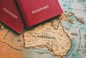 jeu australien-2 passports sur la carte de l australie-casinosansdepts.net