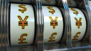 symbole Yen sur machine a sous au casino japon