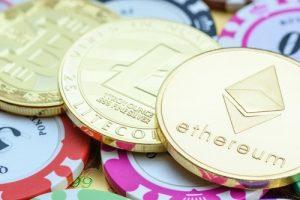 pieces cryptos-monnaies et jetons