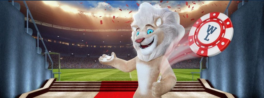 Leo mascotte de white lion casino