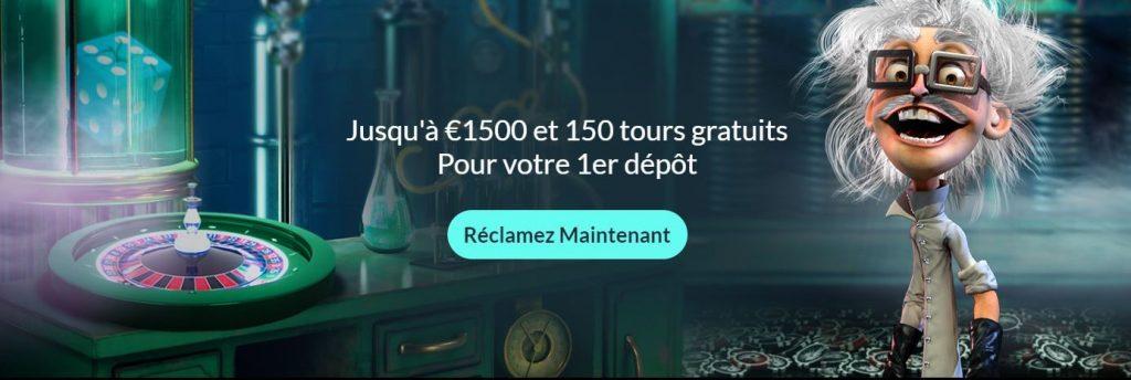 spin madness casino jusqu'a 1500 euros et 150 tours gratuits
