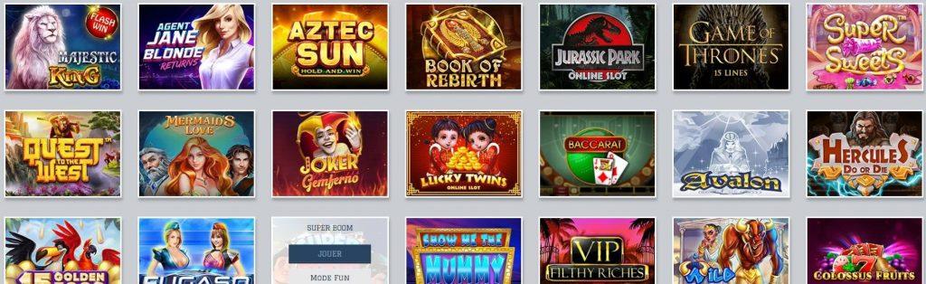 ludotheque de jeux du casino en ligne white lion