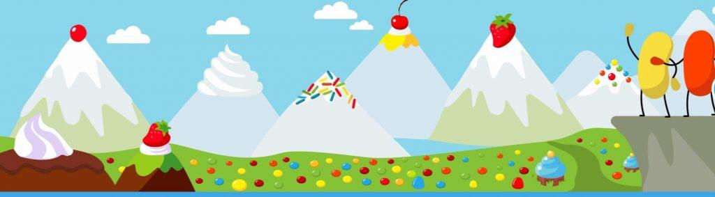 montagne de bonbons sur Jelly Bean