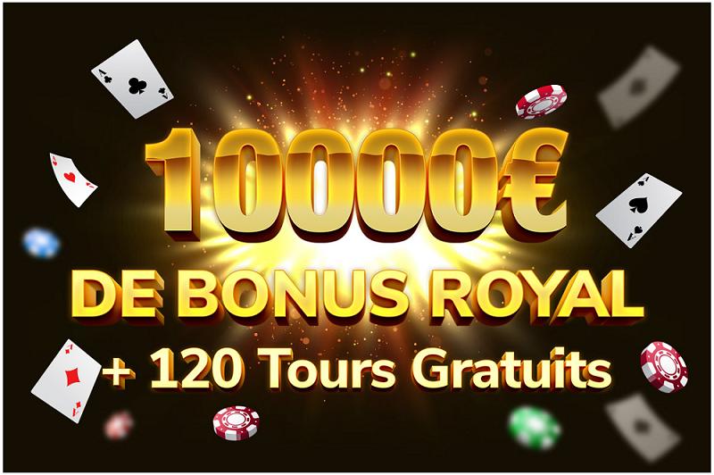 bonus royal de 10000 euros de kings chance casino