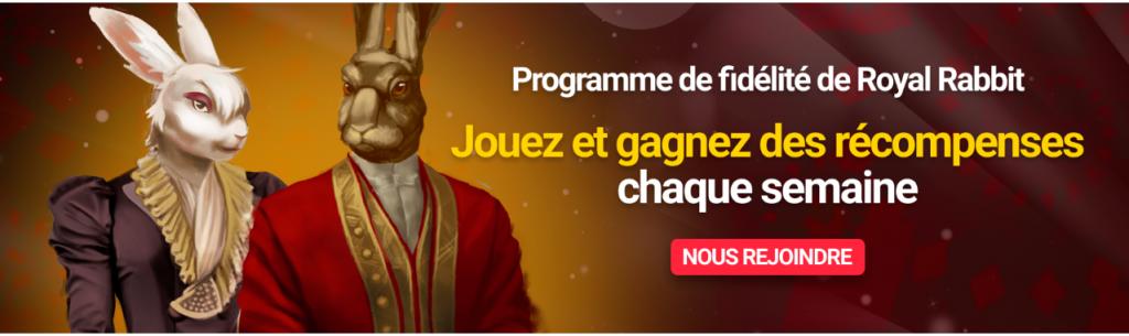 programme de fidelite de royal rabbit casino