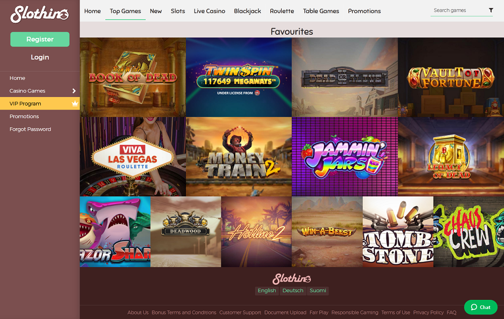 Top Jeux de Slothino Casino