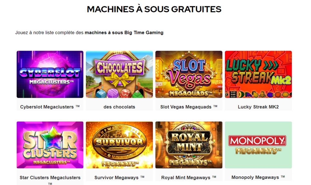 machines a sous big time gaming gratuites